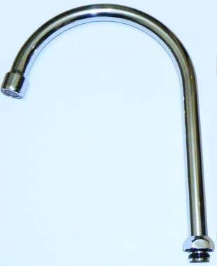 Излив для кухни с аэратором имп. М18 латунь КМ748