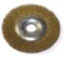 """Щетка-крацовка дисковая, для УШМ, латун. витая проволока, 100мм, Китай 2302001 """"Т4Р"""""""