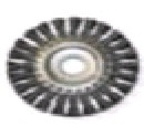 """Щетка-крацовка дисковая, для УШМ, стальная жгут. проволока, 125мм, Китай 2302012 """"Т4Р"""""""