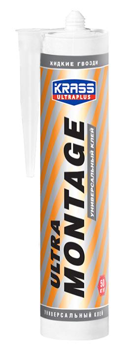 Клей KRASS ЖГ Ultramontage Универсальный белый 260мл