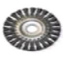 """Щетка-крацовка дисковая, для УШМ, стальная жгут. проволока, 175мм, Китай 2302014 """"Т4Р"""""""
