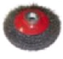 """Щетка-крацовка коническая, для УШМ, стальная. витая проволока, 100мм, Китай 2302031 """"Т4Р"""""""