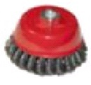 """Щетка-крацовка чашечная, для УШМ, стальная жгут. проволока, 125мм, Китай 2302053 """"Т4Р"""""""