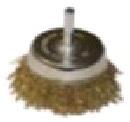 "Щетка-крацовка чашечная, латун. витая проволока, для дрели, 65мм, Китай 2302082 ""Т4Р"""