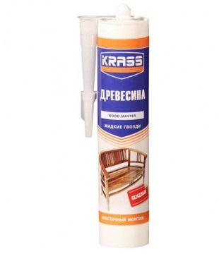 Клей KRASS ЖГ для древесины Эластичный монтаж (Древесина) Бежевый 300мл