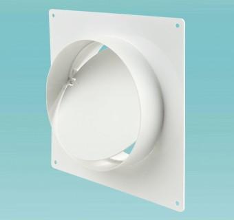 """Соединитель с обратным клапаном и монтажной пластиной d=125мм в упак. (2521) """"Вентс"""""""