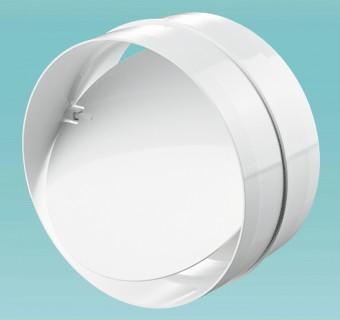 """Соединитель круглых каналов с обратным клапаном d=125мм в упак. (2121) """"Вентс"""""""