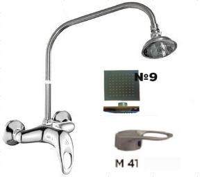 Смеситель настенный д/душа ЦС-СМ 293-2/1 ЭКО на стационарной трубке с кронштейном,М-41,лейка №9
