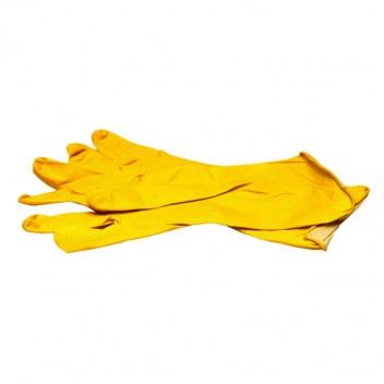 Перчатки резиновые плотные (пара), желтые, размер М