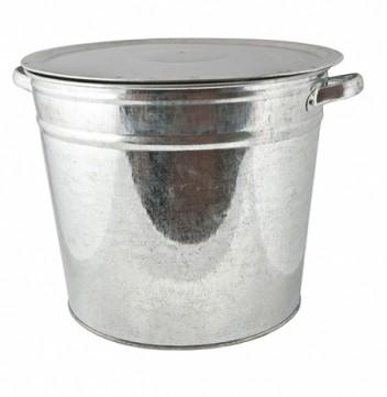 Бак для белья с крышкой 20л оцинк Магнитогорск