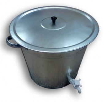 Бак оцинкованный для воды с крышкой 32л (с отверстием под кран + кран) Магнитогорск