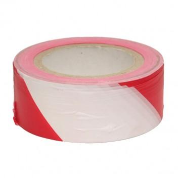 Лента сигнальная для ограждения 50мм*200м бело-красная СПб