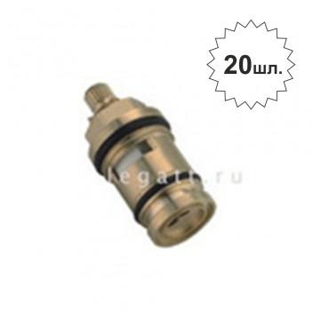 """Кран-букса уг. поворота 180гр. 20 шлиц. керам. (для см. дивертор в корпусе) F52-6 """"Frap"""""""