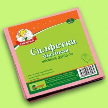 "Салфетка быт ""Умничка"" вискоза 34*34 МП"