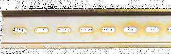 DIN-рейка L 150 цинк желтый Кунгур