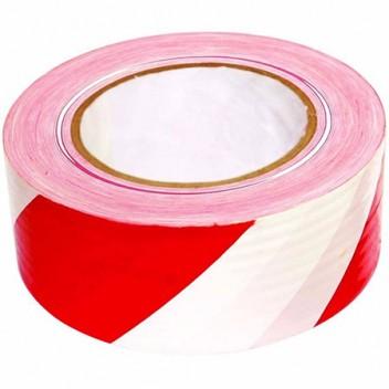 Лента для ограждений 50мм х 200м бело-красная неклейкая
