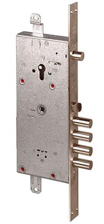 Замок врезной двухсистемный NEW CAMBIO FACILE 57.986.48 (тех. упаковка), ключ 64 мм Cisa