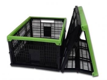Ящик складной, черно-зеленый, 38л.