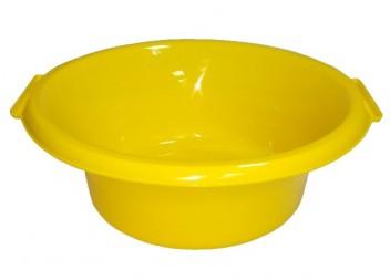 Таз круглый 10л желтый ПП