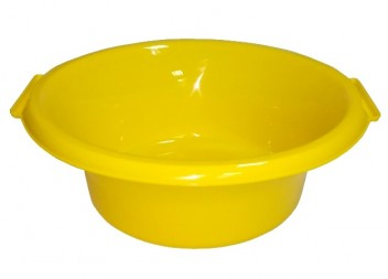 Таз круглый 15л желтый ПП