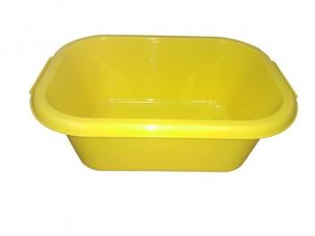 Таз прямоугольный 10л желтый ПП