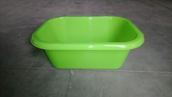 Таз прямоугольный 10л зеленый ПП