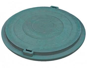 Люк канализационный ПП-630 зелёный нагрузка до 3тн